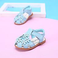 Sandály-Kůže-Pohodlné-Dívčí-Modrá / Růžová / Bílá-Outdoor-Plochá podrážka