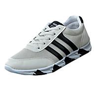 Muškarci Sneakers Proljeće Ljeto Jesen Zima Udobne cipele PU Ležeran Ravna potpetica Vezanje Crna Plava Bijela Trčanje