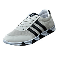 Herre-PU-Flat hæl-Komfort-Treningssko-Fritid-Svart Blå Hvit