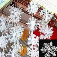 30pcs Weihnachten Schneeflocken weiß Schneeflockeverzierungen Urlaub Weihnachtsbaum decortion Festival Party nach Hause dcor
