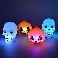 Halloween Dekorationen Partei liefert bunte Nachtlicht Kürbis Schädel (1pcs)