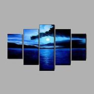 Kézzel festett Absztrakt Landscape Csendélet Absztrakt tájkép Vízszintes,Klasszikus Modern Rusztikus Európai stílus Öt elem VászonHang