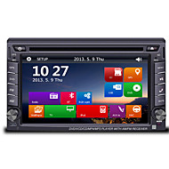 6.2 2DIN TFT touch screen in-dash bil dvd-afspiller med gps bt radio sd / usb rds 800 * 480screen opløsning