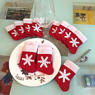 12 חתיכות / קישוטי עץ חג מולד כיסוי מולד גרבי אוכל מיניים להגדיר קישוטי חג מולד מפלגת פסטיבל