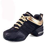 Для женщин-Кожа / Ткань-Не персонализируемая(Черный / Красный / Золотистый) -Танцевальные кроссовки / Модерн