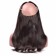 """10""""20"""" Noir Naturel (#1B) Dentelle frontale Droit (Straight) Cheveux humains Fermeture Brun roux Dentelle Suisse 85 gramme MoyenneTaille"""