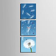 현대/현대 기타 벽 시계,광장 캔버스 25 x 25cm(10inchx10inch)x3pcs 실내 시계