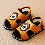 Boy's Sandals Summer Sandals Casual Flat Heel Applique Black / Yellow / White Walking