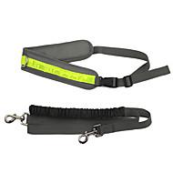 Dog Leash Reflective / Adjustable/Retractable / Running Gray Mesh