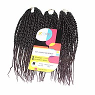 Szenegál Twist Zsinór Póthajak 12Inch Kanekalon 81 Strands Part 125g gramm Hair Zsinór