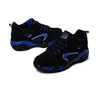 Feminino-Tênis-Conforto-Rasteiro-Azul Cinza Preto e Vermelho-Pele-Casual