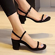 Women's Sandals Summer Platform Suede Casual Chunky Heel Others Black / Red / Almond / Orange Others