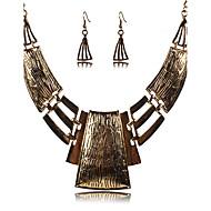 Ensemble de bijoux Mode Sexy Or Argent Collier / Boucles d'oreilles Mariage Soirée Quotidien Décontracté 1setColliers décoratifs Boucles