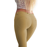 Damer Ensfarget Legging Bomull / Spandex Normal