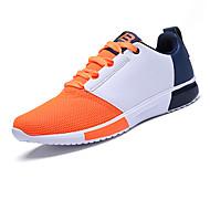 Herre-PU-Flat hæl-Komfort-Sportssko-Fritid-Svart Blå Grå Oransje