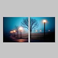 e-Home® strakt ledet lærred udskrive kunst gadelygte flash effekt førte blinkende optisk fiber print sæt 2