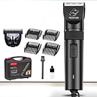 Cat Dog Grooming Clipper & Trimmer Waterproof Low Noise Electric Rechargeable Black