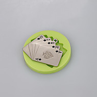 Playing CARDS silicone mold for fondant cake chocolate candy fimo clay decoration tools