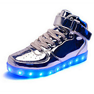 Led's Shoes Unisex Sneakers Spring / Fall / Winter Fashion Boots Synthetic Outdoor Casual Flat Heel Silver / Gold