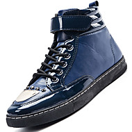 Boty-PU-Pohodlné Kombat boty Pracovní obuv-Pánské-Černá Modrá Červená-Outdoor Běžné Atletika-Nízký podpatek
