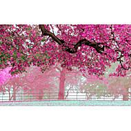 3D Effect Non-woven Large Mural Wallpaper Pink Flowers Tree Art Wall Decor Wall Paper