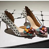 Ženske Cipele na petu Koža Ljeto Cvijet Stiletto potpetica Pink 5 cm - 7 cm