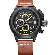 MEGIR® Men's Leather Band Analog Quartz Calendar Sports Watch Gift (Include Package)