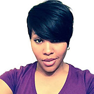 kinky straight short human hair wigs for black woman