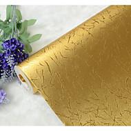 Stripe / Art Deco / 3D Bakgrunn For Hjem Luxury Tapetsering , Gold Foil Materiale selvklebende nødvendig bakgrunns , Room wallcovering