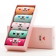 DOUBLE LIONS® Damen Baumwolle Socken 5 / box-WM0016