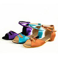 Sapatos de Dança(Azul / Marrom / Roxo) -Infantil-Não Personalizável-Latina