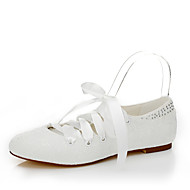 Women's Flats Spring / Summer / Fall Flats Lace / Silk Wedding / Party & Evening / Dress Flat Heel Bowknot White Others