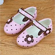 Girls' Flats Fall Light Up Shoes PU Casual Flat Heel Flower Yellow Peach Blue Blushing Pink
