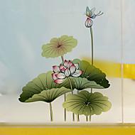 60 * 58cm matné neprůhledné sklo okenní fólie barevné květiny skleněné Dekorativní samolepky koupelna posuvných dveří