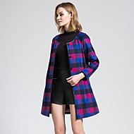 BORME Women's Round Neck Long Sleeve Wool & Blends Multi-Y072