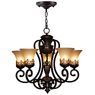 Max 60W Chandelier ,  Country / Island / Vintage Painting Feature for Candle Style MetalLiving Room / Bedroom / Dining Room / Kids Room /