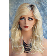 Long wavy Synthetic Hair Blonde Wigs For Women Fashion Wigs Heat Resistant