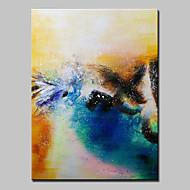 Ručně malované Abstraktní / Abstraktní krajinka olejomalby,Moderní / evropský styl Jeden panel Plátno Hang-malované olejomalba For Home