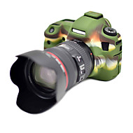 6D Korea Style Silicone Camera Case for Canon 6D DSLR Camera(Black/Green)