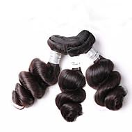 Niska cena hurtowa 300g 8-12inch brazylijskie dziewicze włosy luzem fala naturalne czarne nieprzereagowane ludzkie warkocze