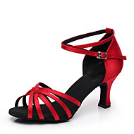 Customized Fashion Women's Satin Upper Latin Dance Shoes(More Colors)