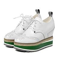 Kényelmes-Talp-Női cipő-Félcipők-Alkalmi-Bőr-Fekete / Fehér