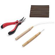 Peruukki Liima Glue Pihdit / Neulat mikrorengaspidennyksille / Liimaa Pelletit Hiuspidennysvälineet Keratine 4pcs/set Peruukit Hair Tools