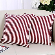Striped Cotton Pillow Cover Foreign Trade Inexpensive