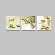 fiori pannello star®3 visivi colore verde natura morta parete su tela per la decorazione cucina pronta per essere appesa