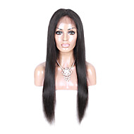 Hot Selling Brazilian Human Hair 360 Lace Frontal With Baby Hair  Human Straight Hair 360 Lace Closure 10-20 Inch Available With Adjustable Straps