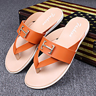 Men's Flats Spring / Summer Mary Jane Rubber Casual Flat Heel Others Walking