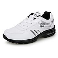 Herre-PU-Flat hæl-Komfort-Treningssko-Sport-Svart Hvit