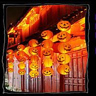 Halloween-Kürbis Dekorationen Papierlaterne bar tragbare Buchse hängen Kürbis mit einem Bart 20cm verziert