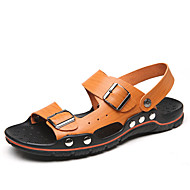 Men's Sandals Summer Slingback Microfibre Casual Flat Heel Others Brown / Yellow / White Others
